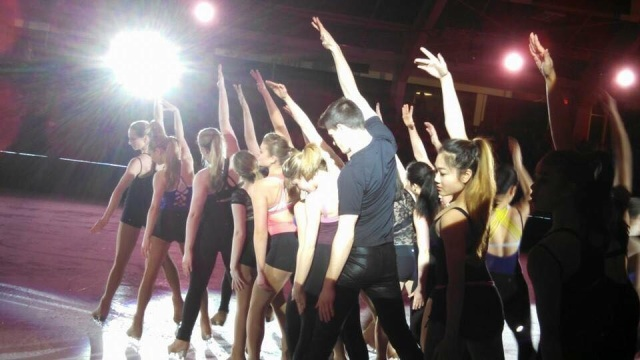 Act 1 of Boston Performing their Choreographic Exercise (CE) at 2015 Ice Chips show