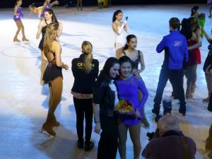 Kate with TOI skater Jessica Lin at 2015 Ice Chips show